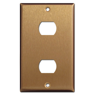 Two Hole Despard Switch Plate Covers - Satin Bronze
