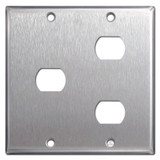 Combo One & Two Hole Despard Switch Plate - Satin Stainless Steel