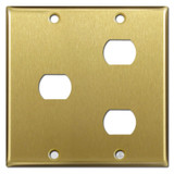Combination 1 & 2 Switch Despard Switch Wallplate - Satin Brass