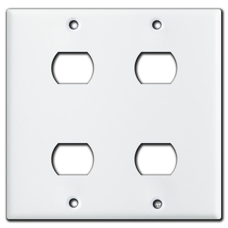4 Switch Plate Simple Gang 4 Stacked Switch Despard Wall Plate  White Inspiration
