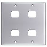 2-Gang 4 Stacked Despard Switch Wall Plate - Polished Chrome