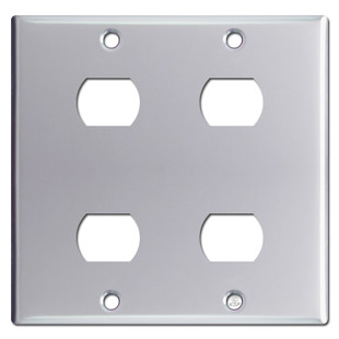 4 Switch Plate Enchanting Gang 4 Stacked Despard Switch Wall Plate  Polished Chrome Design Decoration