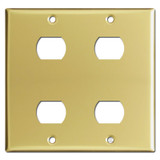 2-Gang 4 Despard Device Light Switch Covers - Polished Brass