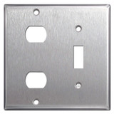 Combo 1 Toggle & 2 Despard Switch Plates - Satin Stainless Steel