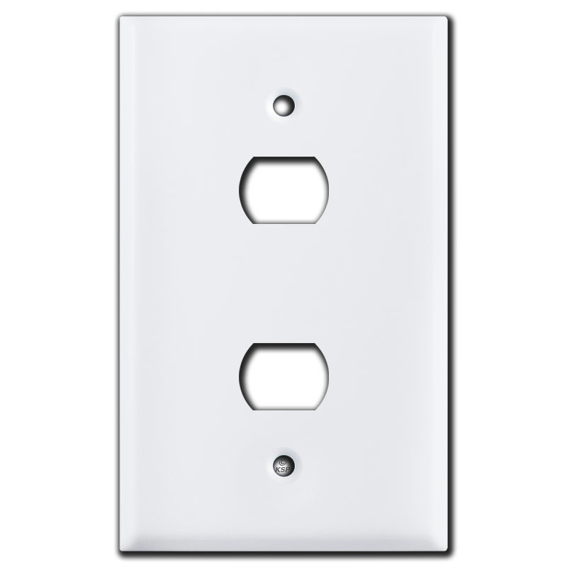 oversized 2 stacked switch despard wall plate white