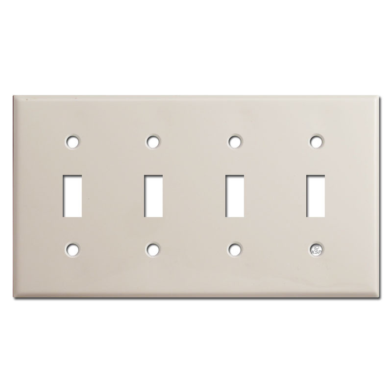 4 Toggle Switch Plate Covers Light Almond Kyle Switch