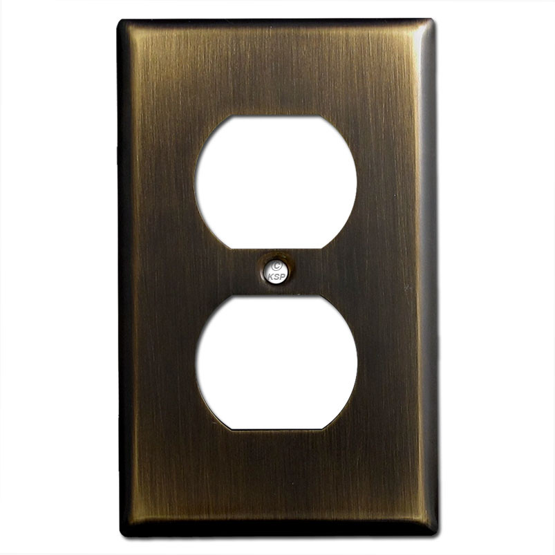 1 Duplex Outlet Electrical Wall Plate Covers Oil Rubbed