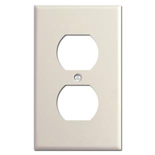 1 Duplex Receptacle Cover - Light Almond