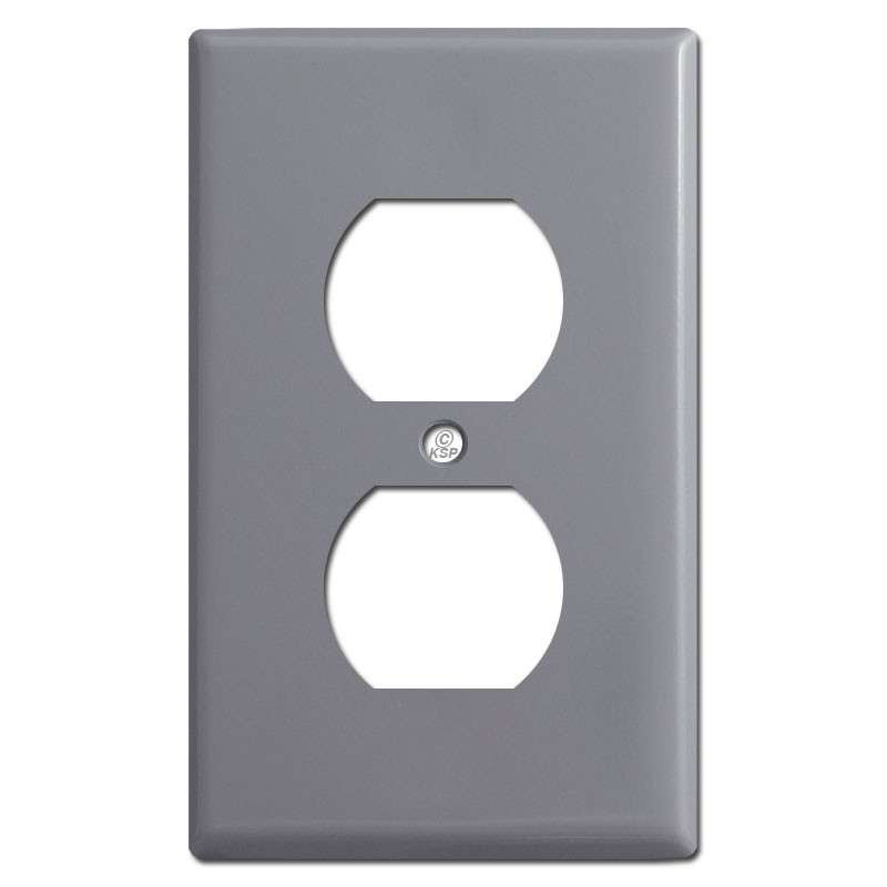 1 Duplex Outlet Receptacle Cover Plate - Gray