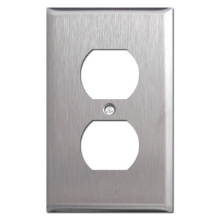 1 Duplex Receptacle Cover Plate - Spec Grade Stainless Steel
