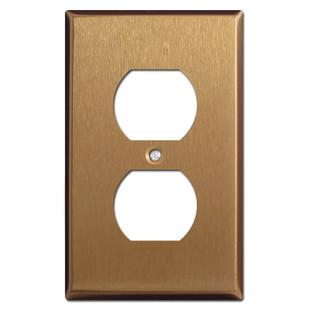 Duplex Receptacle Wallplates - Satin Bronze