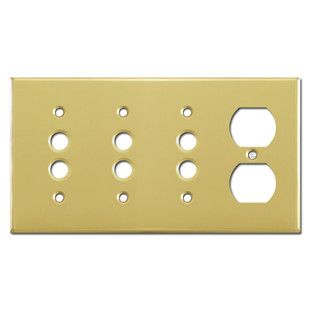 Push Button Outlet Combo Covers