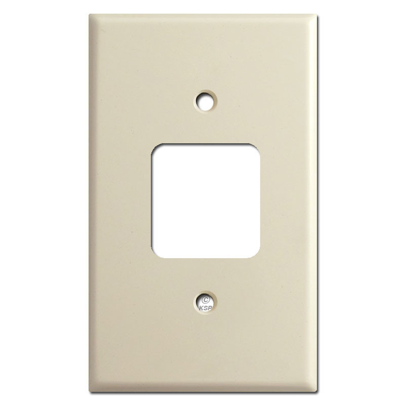 Older Type Sierra Electric Square Outlet Switch Plates - Ivory