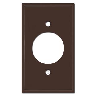 Single 20A Plug Plate Covers - Brown