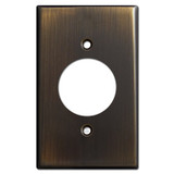 Single Gang 20A Plug Wall Plates - Oil Rubbed Bronze