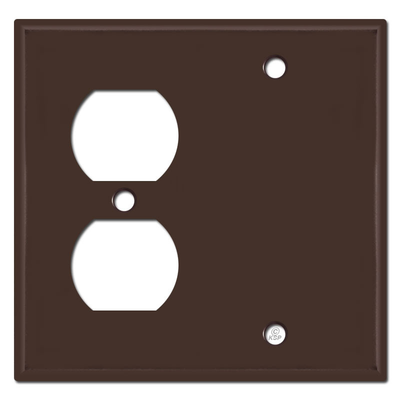 Wall Outlet Blank Cover Plates Brown