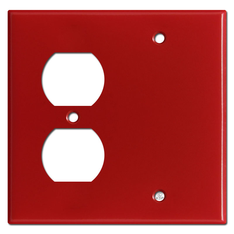 Red Tractor Plate Outlit : Blank duplex outlet cover plate red kyle switch plates