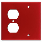 Blank / Duplex Outlet Cover Plate - Red