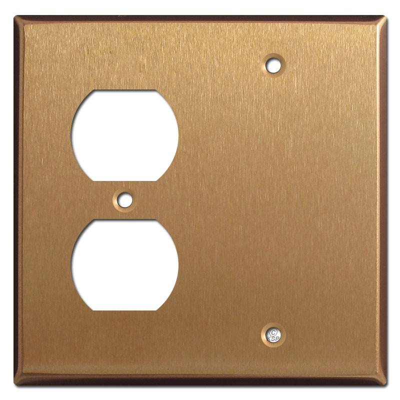Outlet Faceplate Stunning Duplex Outlet Single Blank Faceplate  Satin Bronze Design Inspiration