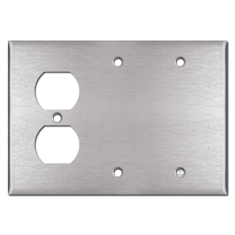 Metal Electrical Outlet Covers Oversized Outlet Covers: Single Outlet Double Blank Cover Plates
