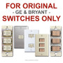 Replacement Cover Plate for Older Bryant or GE Low Voltage Switches