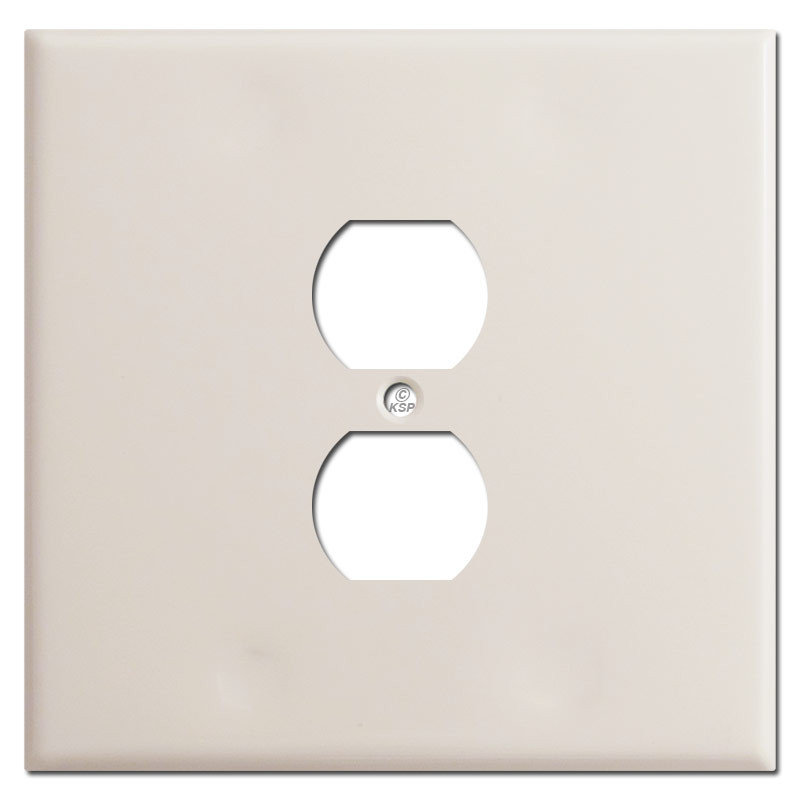 Metal Electrical Outlet Covers Oversized Outlet Covers: Oversized 2 Gang 1 Centered Outlet Plate Covers