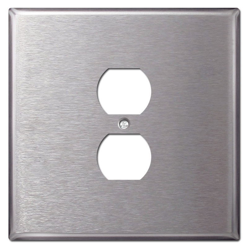 Metal Electrical Outlet Covers Oversized Outlet Covers: Oversized 2 Gang 1 Centered Outlet Covers