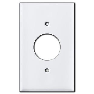 Single Receptacle Wall Plates - White