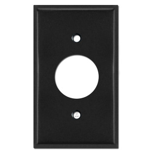 Single Receptacle Wall Covers - Black