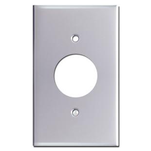 1 Plug Wall Plates - Polished Chrome