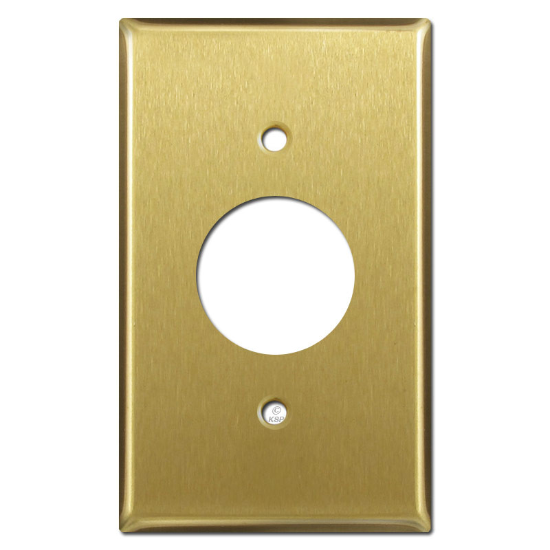 One Electrical Plug Plate Covers - Satin Brass | Kyle Switch Plates