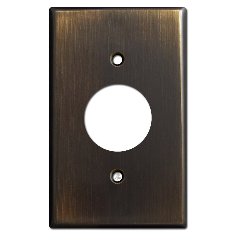 Single Power Outlet Cover Plates Oil Rubbed Bronze