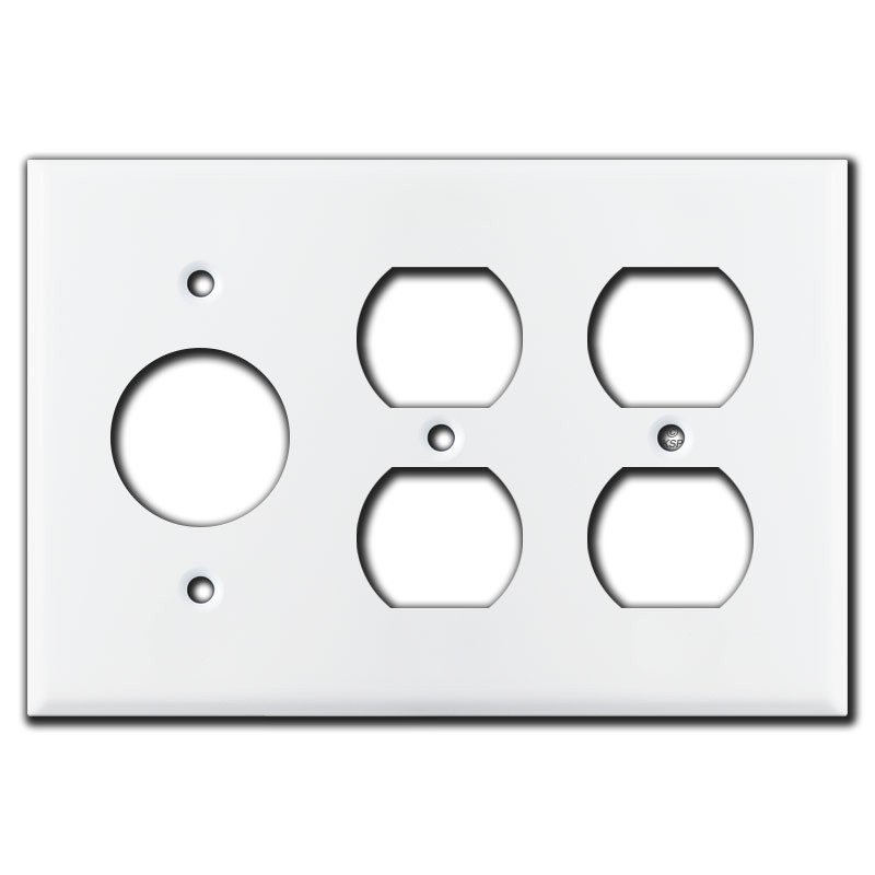 Double Duplex Outlet Single Receptacle Wall Plates White