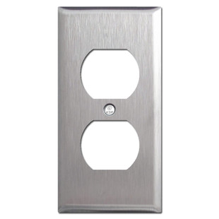 "2.25"" Compact Outlet Wallplate - Spec Grade Stainless Steel"