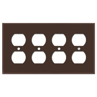 4 Outlet Cover Plate - Brown