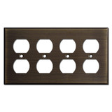 4 Outlet Faceplates - Oil Rubbed Bronze
