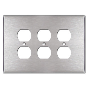 Oversized Triple Outlet Plates - Spec Grade Stainless Steel