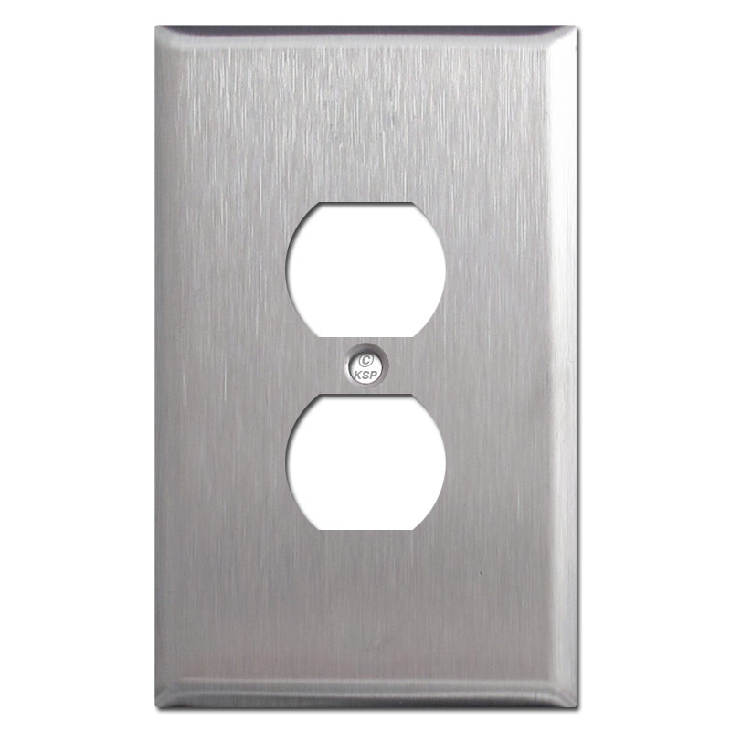Metal Electrical Outlet Covers Oversized Outlet Covers: Oversized Outlet Covers Stainless Steel