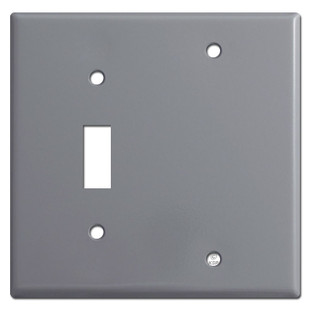 1 Toggle 1 Blank Switch Cover Plates - Gray
