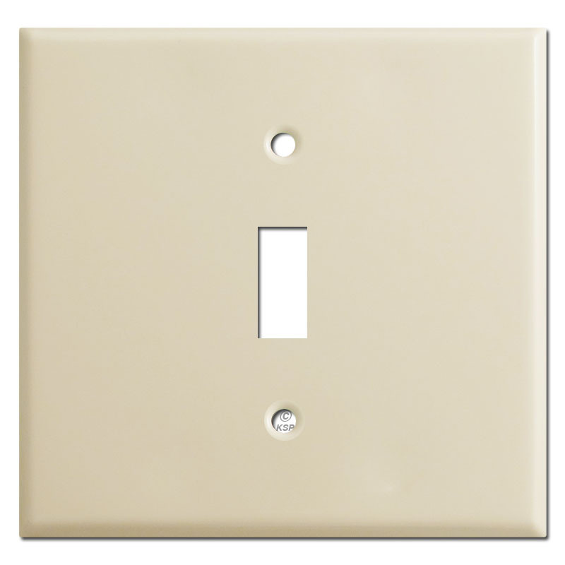 Double Gang Single Center Toggle Cover Plates Ivory