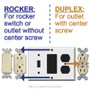 Plate Center fits GFCI & Rocker Switches