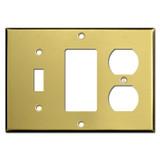 Single Toggle Single Decora Single Duplex Switchplate - Satin Brass