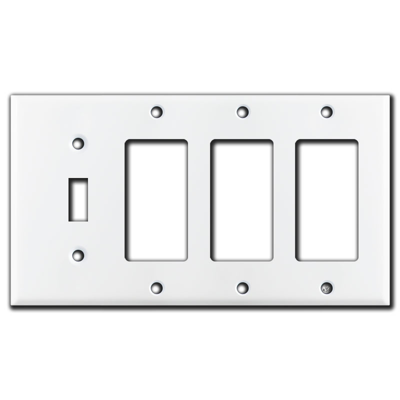 1 Toggle 3 Rocker Wall Plate White Kyle Switch Plates