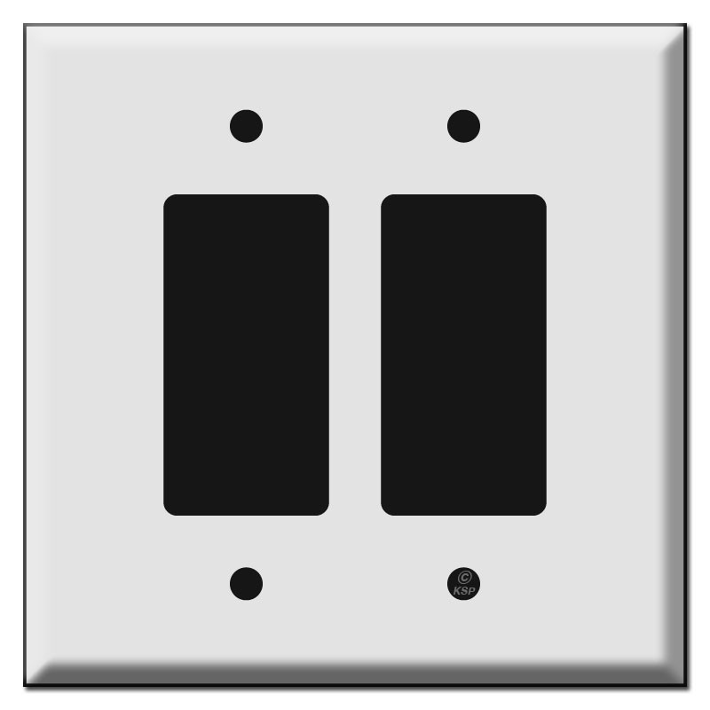Oversized Double Decora Rocker Switch Plates For 2 Decora
