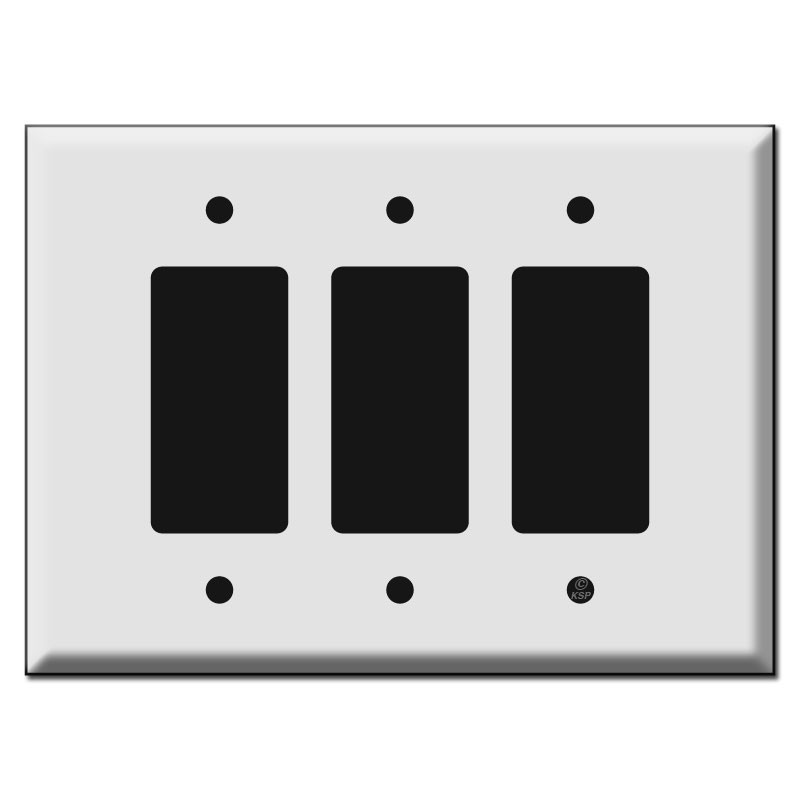 Triple or 3 Gang Decora Rocker Switch Plates