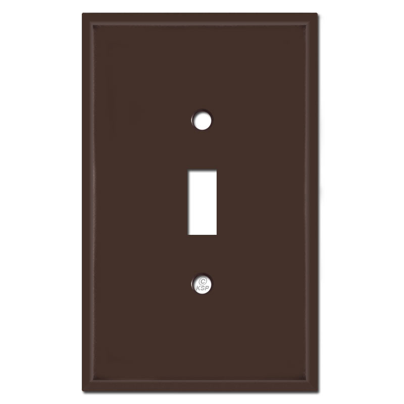 Toggle Switch Cover >> Jumbo Single Toggle Switch Cover Plates Brown
