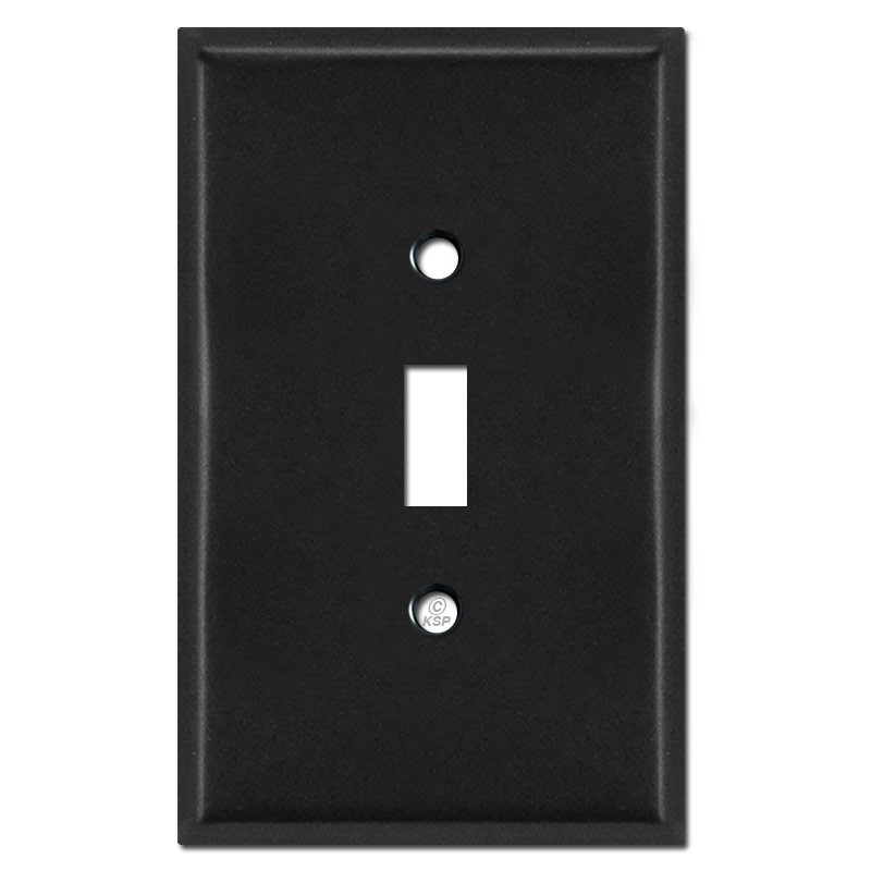Oversized 1 Toggle Faceplates Black Kyle Switch Plates