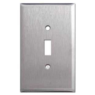 Stainless Steel Jumbo Toggle Switch Plate