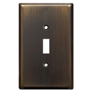 Jumbo Single Toggle Light Switch Covers - Oil Rubbed Bronze