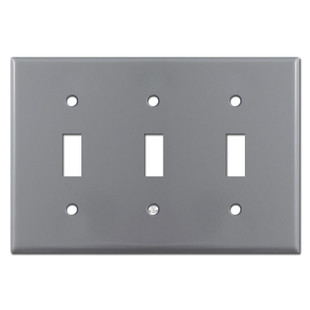 3 Toggle Wall Plates - Gray